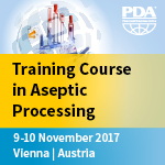 "Training course ""Best practices and points to consider in Aseptic Processing"""