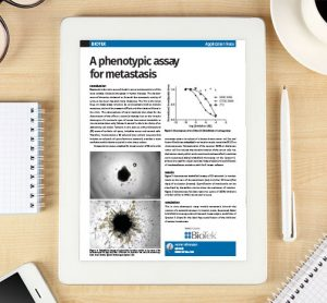 Application Note: A phenotypic assay for metastasis