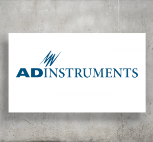 AD Instruments logo with background
