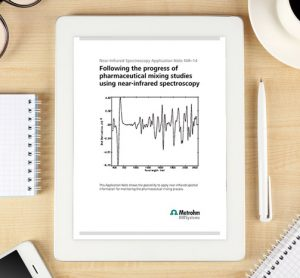 App Note: Following the progress of pharmaceutical mixing studies using near-infrared spectroscopy