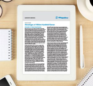 Whitepaper: Advantages of 1064nm Handheld Raman