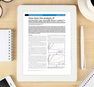App Note: How does the analysis of biomolecules benefit from UHPLC?