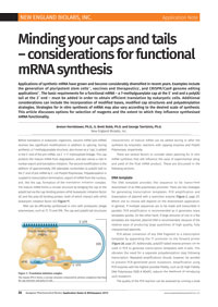 Application Note: Minding your caps and tails – considerations for functional mRNA synthesis