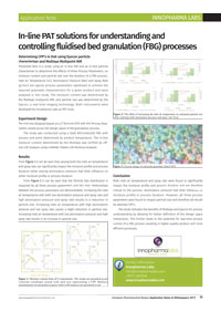 Application note: In-line PAT solutions for understanding and controlling fluidised bed granulation (FBG) processes