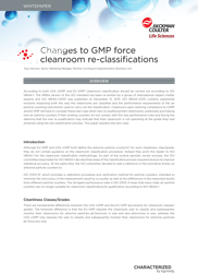Whitepaper: Changes to GMP force cleanroom re-classifications