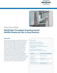 Poster Note PN-05 MALDI High-Throughput Screening beyond 100,000 Samples per Day in Drug Discovery