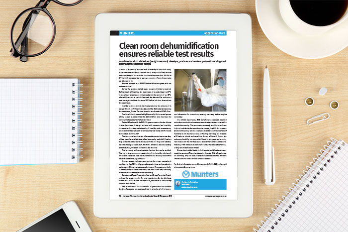 Application note: Clean room dehumidifcation ensures reliable test results