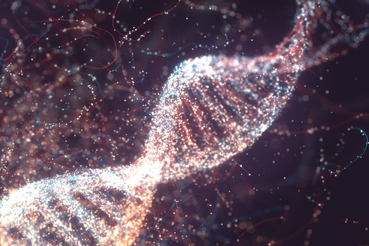 colourful DNA strand