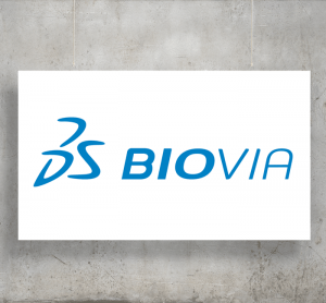 Dassault Systèmes Biovia logo with background