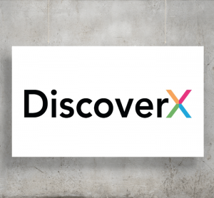 DiscoverX logo with background