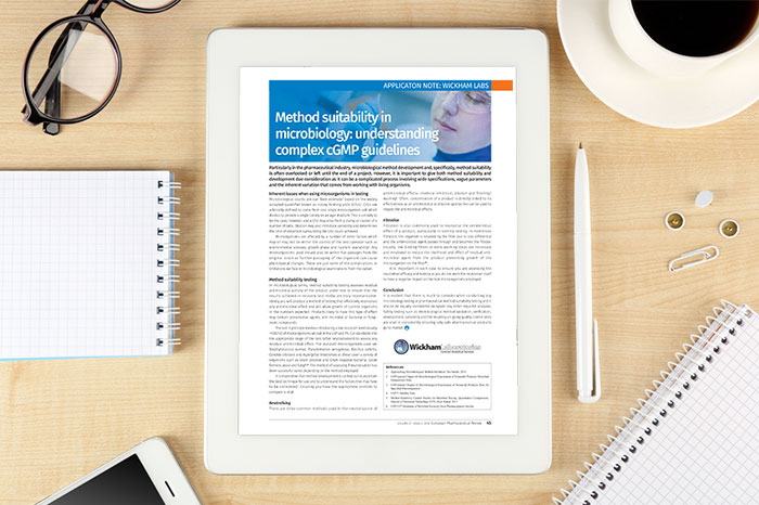 Method suitability in microbiology understanding complex cGMP guidelines