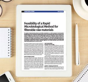 Whitepaper: Feasibility of a Rapid Microbiological Method for filterable raw materials