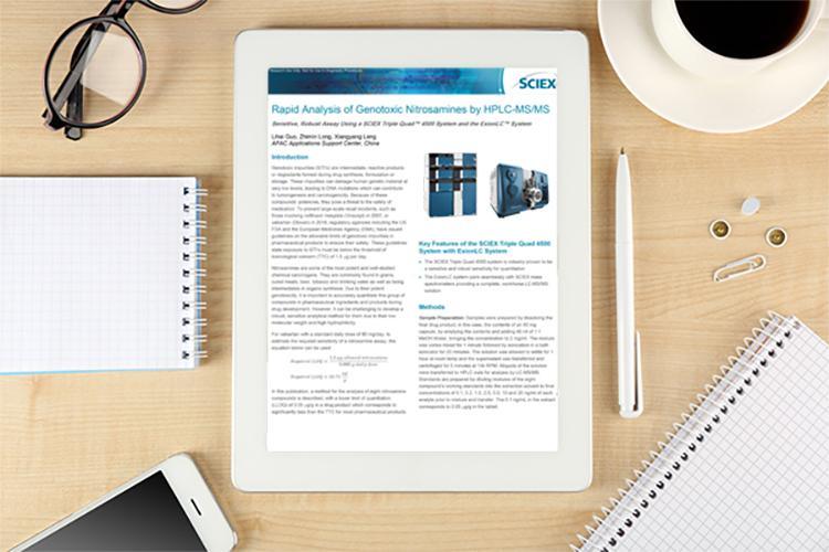 Rapid Analysis of Genotoxic Nitrosamines by HPLC-MS/MS