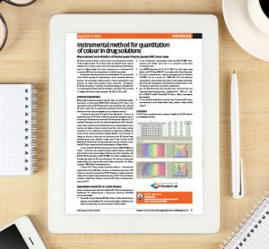 Application Note: Instrumental method for quantitation of colour in drug solutions