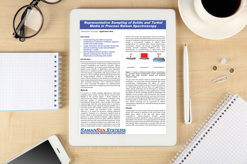 Application note: Representative sampling of solids and turbid media in process raman spectroscopy