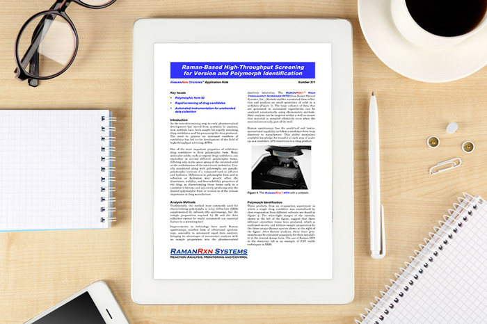 Raman-based high-throughput screening for version and polymorph identification