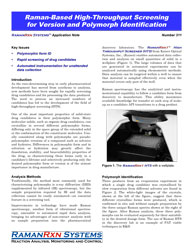 Application note: Raman-based high-throughput screening for version and polymorph identification