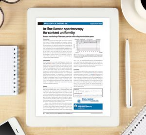 Kaiser white paper on Raman spectroscopy for content uniformity