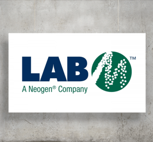 LAB M logo with background