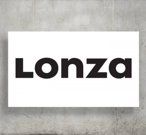 Lonza logo with background