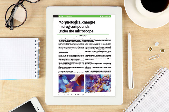 Application note: Morphological changes in drug compounds under the microscope
