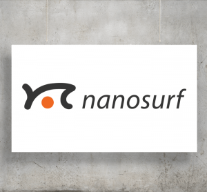 Nanosurf logo with background