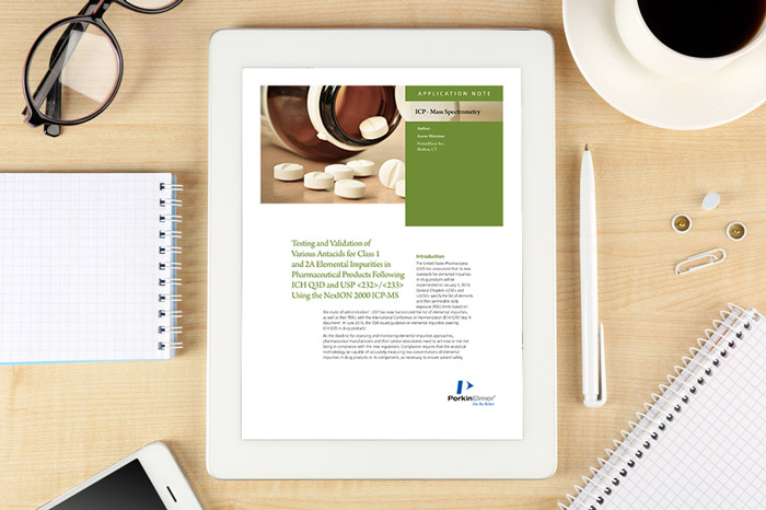 PerkinElmer - Application note: Testing and validation of various antacids for class 1 and 2A elemental impurities