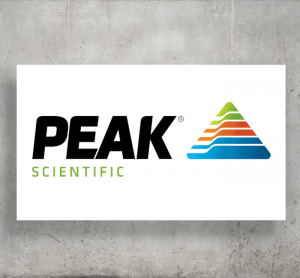 Peak Scientific logo with background