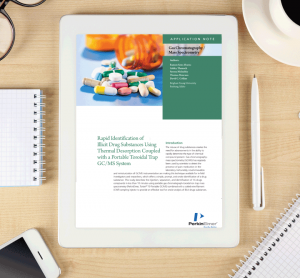 Whitepaper: Rapid identification of illicit drug substances using thermal desorption coupled with a portable toroidal trap GC/MS system