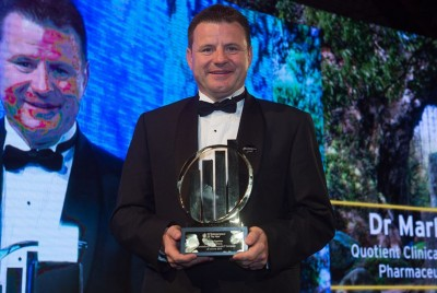 Quotient Clinical CEO Mark Egerton a winner at UK EY Entrepreneur of the Year 2015 awards