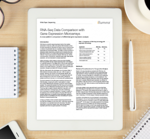 Whitepaper: RNA-Seq Data Comparison with Gene Expression Microarrays