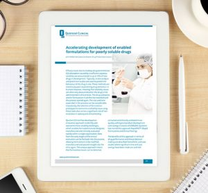 Whitepaper: Accelerating development of enabled formulations for poorly soluble drugs