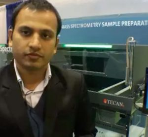 Rohit Shroff, Application Specialist, Tecan at Pittcon 2014