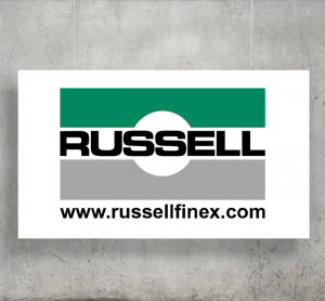 Russell Finex logo with background