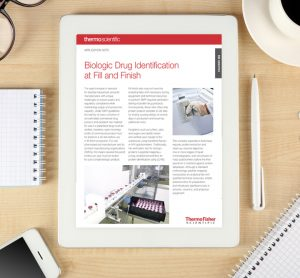 Application note: Biologic drug identification at fill and finish