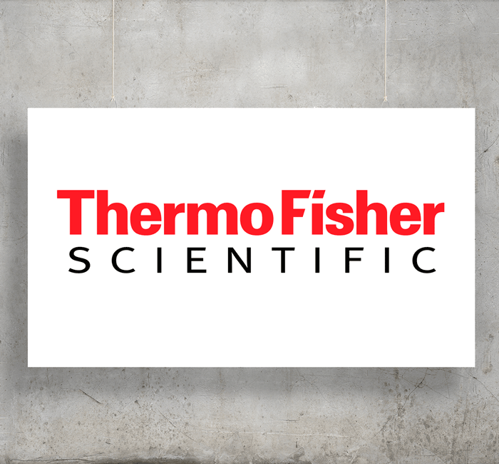 Thermo Fisher Scientific logo with background