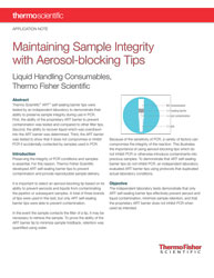 Whitepaper: Maintaining sample integrity with aerosol-blocking tips