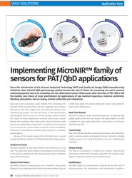 Application note: Implementing MicroNIR™ family of sensors for PAT/QbD applications
