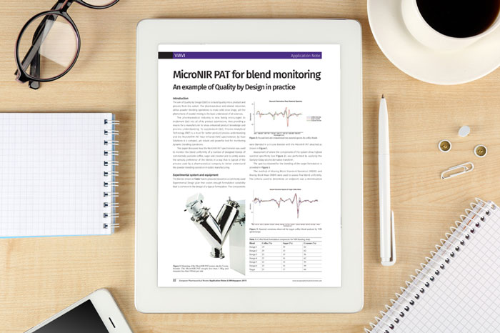 Viavi application note MicroNIR