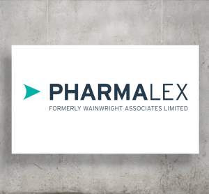 Pharmalex logo with background