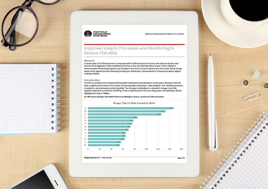 Whitepaper: Improved aseptic processes and monitoring to reduce FDA 483s