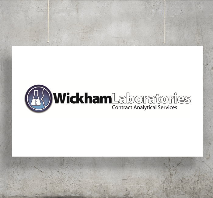 Wickham Laboratories logo with background