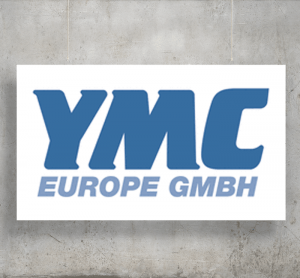 YMC Europe GmbH logo with background