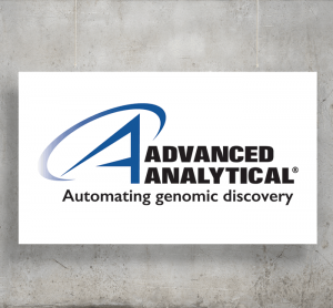 Advanced Analytical logo with background