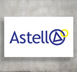 Astell logo with background