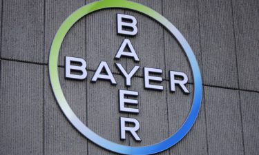 Bayer logo on side of office building