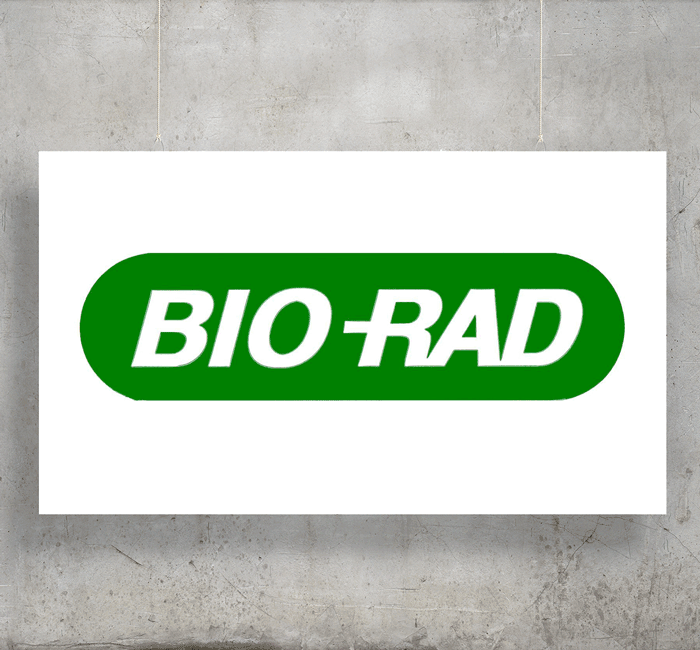 Bio Rad logo with background