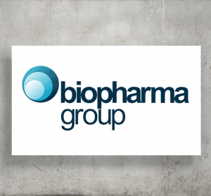 Biopharma Group logo with background