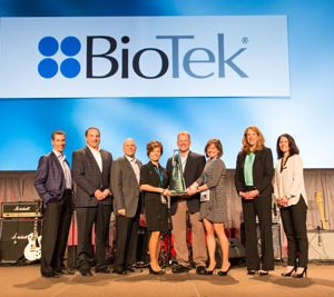 BioTek Receives 2014 Supplier of the Year Award from Fisher Scientific