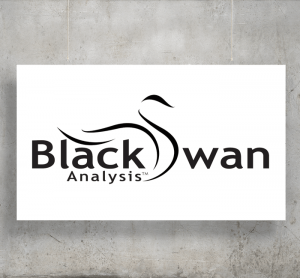 Black Swan Analysis logo with background